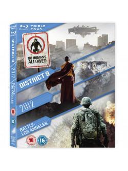 2012 / Battle: Los Angeles / District 9 (3 Blu-Ray) [Edizione: Regno Unito]