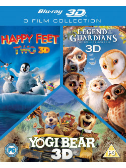 3D Triple Pack - Happy Feet 2 / Yogi Bear / Legend Of The Guardians [Edizione: Regno Unito]