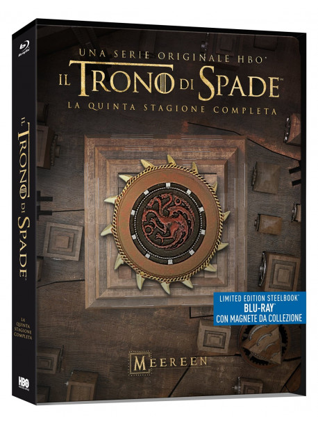 Trono Di Spade (Il) - Stagione 05 (Ltd Steelbook) (4 Blu-Ray+Magnete Da Collezione)