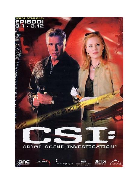 C.S.I. - Scena Del Crimine - Stagione 03 01 (Eps 01-12) (3 Dvd)
