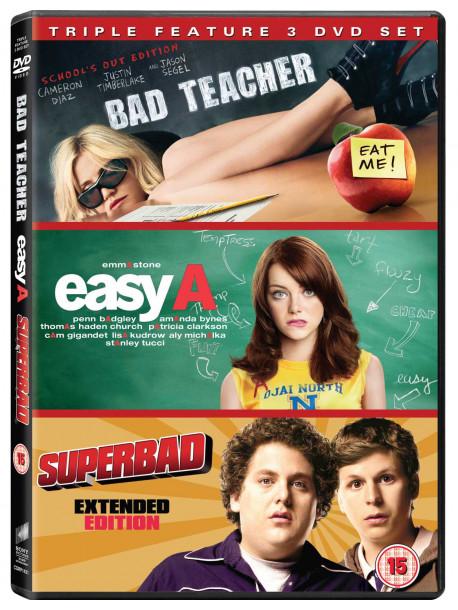 Bad Teacher / Easy A / Superbad (3 Dvd) [Edizione: Regno Unito]