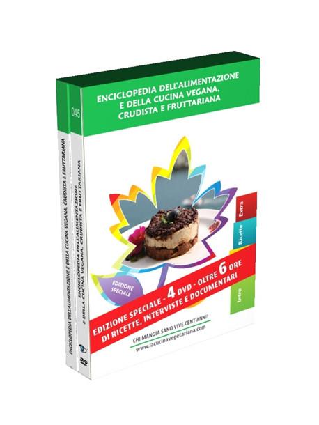 Enciclopedia Della Cucina Vegana, Crudista E Fruttaria (4 Dvd+Booklet)