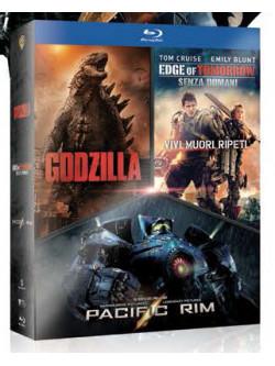 Godzilla / Edge Of Tomorrow / Pacific Rim Boxset (3 Blu-Ray)