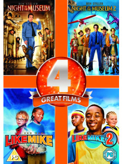 Night At The Museum / Night At The Museum 2 / Like Mike / Like Mike 2  (4 Dvd) [Edizione: Regno Unito]